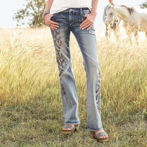 Driftwood Kelly Strawberry Blossom Floral Jeans